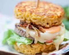 Recette hamburgers aux galettes de coquillettes