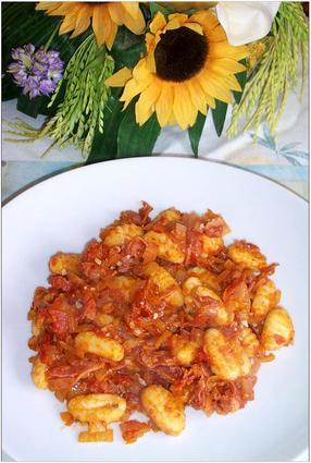 Recette de gnocchis à la pancetta