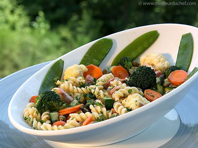 Salade de pâtes aux légumes  notre recette avec photos ...