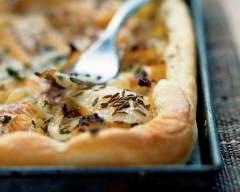 Recette tarte à l'oignon et huile d'olive