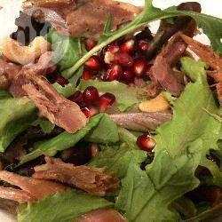 Recette salade de confit de canard aux graines de grenades ...
