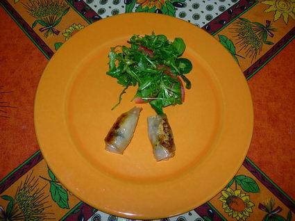 Nems au poulet et champignons