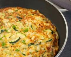 Recette omelette aux courgettes