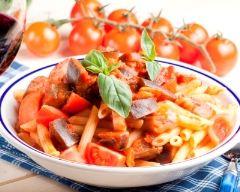 Recette pâtes sauce aux aubergines