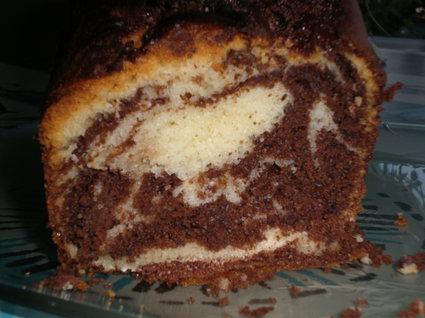 Recette de cake marbré au yaourt et chocolat