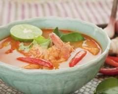Recette soupe thaï épicée aux crevettes