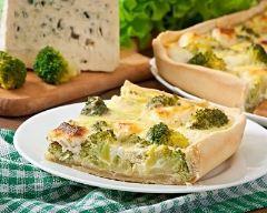 Recette quiche au brocoli et fromage frais