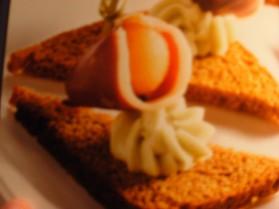 Melon et magret fumé sur toast de pain d'épices pour 8 personnes ...