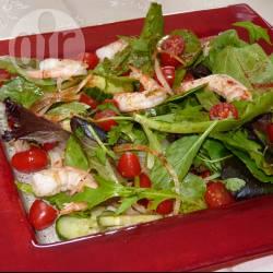 Recette salade verte aux crevettes et tomates cerises – toutes les ...
