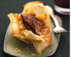 Recette croustillant de foie gras aux pommes fondantes