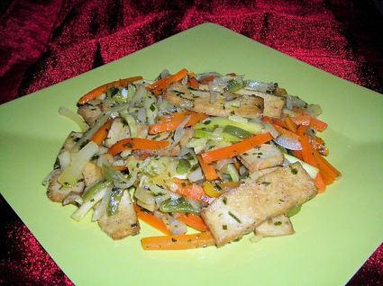 Recette de julienne de légumes au gingembre et au tofu