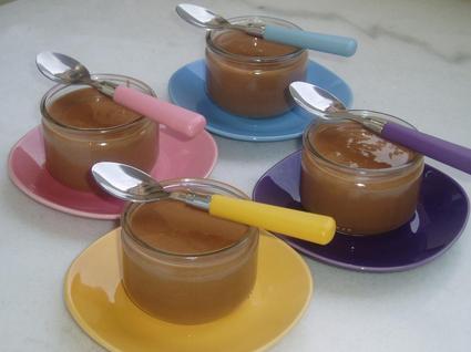 Recette de petits pots de crème au chocolat au lait