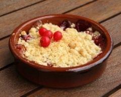 Recette crumble aux fruits rouges et glace vanille