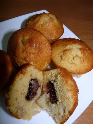 Recette de muffins à la banane et au nutella