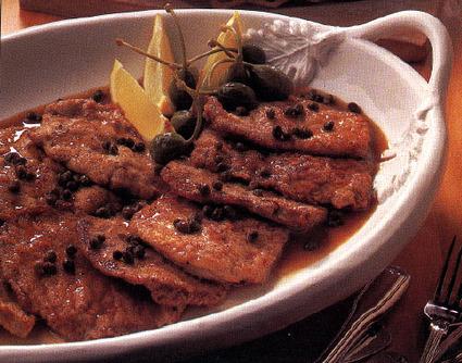 Recette escalope de veau, sauce au citron et aux câpres