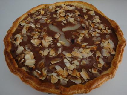 Recette tarte poires-chocolat aux amandes (dessert divers)