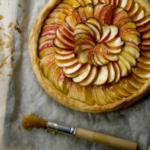 Tarte aux pommes reinettes