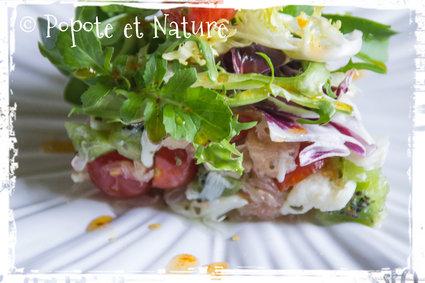 Recette de salade de crabe au pamplemousse et aux kiwis