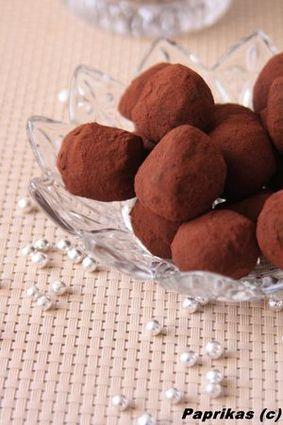 Recette de truffes au chocolat noir