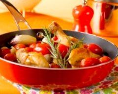 Recette cocotte de poulet aux échalotes et tomates cerises