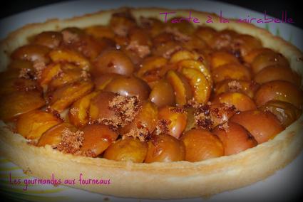 Recette de tarte à la mirabelle, vergeoise et poudre d'amandes