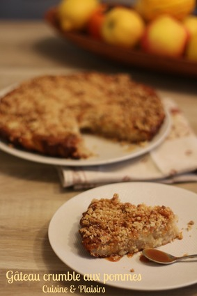 Recette de gâteau-crumble aux pommes