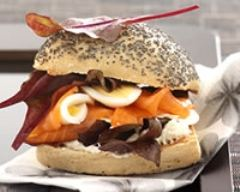 Recette hamburgers minceur au saumon fumé