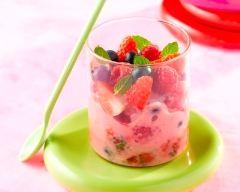 Recette coupe de fruits rouges