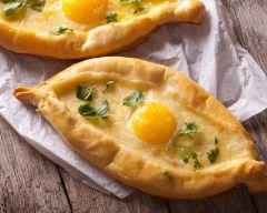 Recette egg boat au parmesan