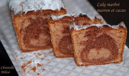 Recette de cake marbré marron et cacao