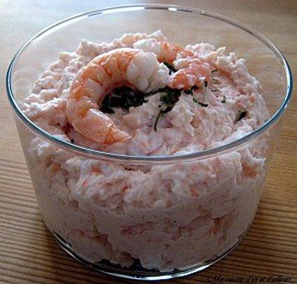 Recette de mousse de crevettes au pamplemousse