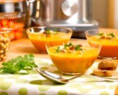 Recette soupe de carottes et de pois chiche à l'orientale
