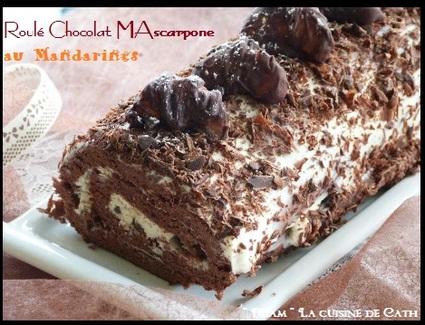 Recette de roulé chocolat  mascarpone au mandarines