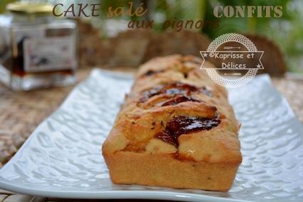 Recette de cake aux oignons confits