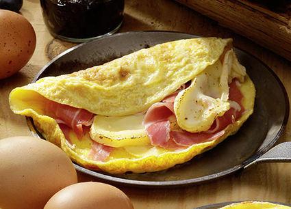 Recette omelette au reblochon et au jambon de montagne