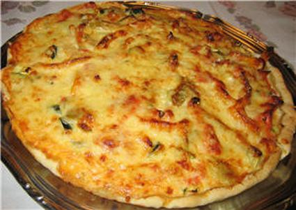 Recette de tarte facile aux légumes du soleil