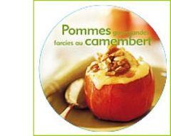 Recette pommes gourmandes farcies au camembert