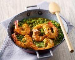 Recette curry aux petits pois et aux crevettes