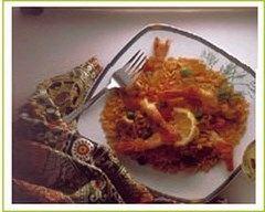 Recette risotto safrané de volaille aux crevettes