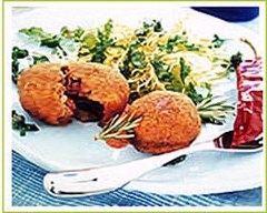 Recette croquettes de boeuf et d'aubergines au piment d'espelette