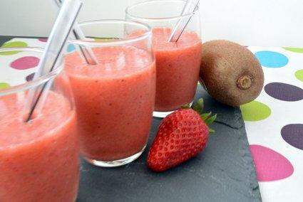 Recette de smoothie vitaminé fraise kiwi