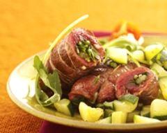 Recette paupiettes de bœuf aux herbes et courgettes croquantes