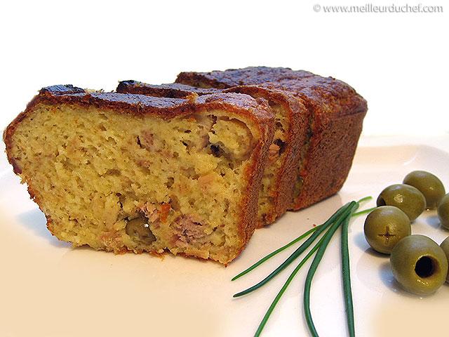 Cake au thon et aux olives  fiche recette avec photos ...