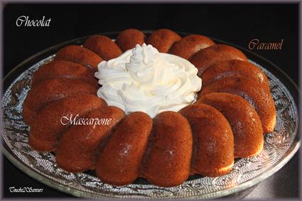 Recette de gâteau au chocolat, au caramel et mascarpone