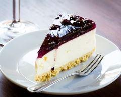 Recette cheesecake aux myrtilles sans beurre