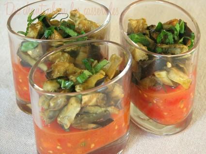 Recette de verrines de confiture de tomates et aubergines au cumin ...