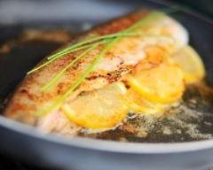 Recette truite saumonée farcie au citron et thym