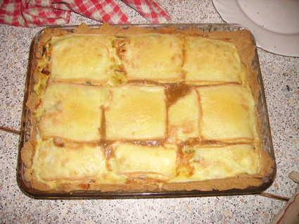 Recette de tarte poireau saumon raclette