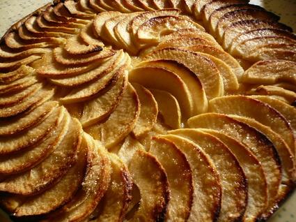 Recette de tarte aux pommes caramélisées
