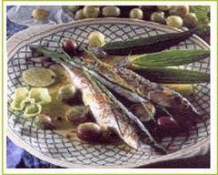 Recette lisette en nage de citron vert et groseilles à maquereaux